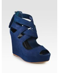 Dolce Vita | Black Jade Suede Wedge Sandals | Lyst