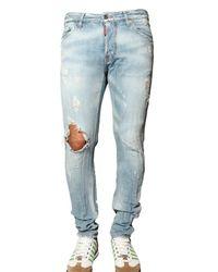 DSquared² - Blue 16,5cm Linen Blend Denim Cool Guy Jeans for Men - Lyst