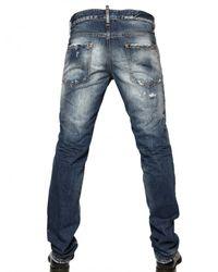 DSquared²   Blue 19cm Washed Denim Slim Fit Jeans for Men   Lyst