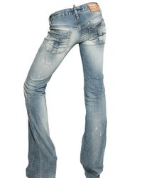 DSquared² - Blue Low Waist Flared Washed Jeans - Lyst