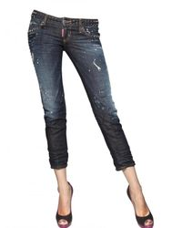 DSquared² | Blue Slim Super Studded Denim Jeans | Lyst