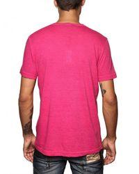 DSquared² | Purple Cotton Linen Summer V-neck T-shirt for Men | Lyst