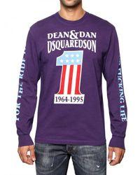 DSquared² - Purple Dean & Dan Long Sleeve Jersey T-shirt for Men - Lyst