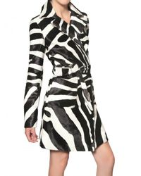 DSquared² | Animal Zebra Print Ponyskin Trench Coat | Lyst