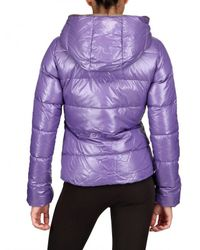 Duvetica | Purple Thia Hooded, Quilted Short Down Jacket | Lyst