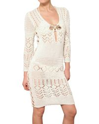 Emilio Pucci | White Jewelled Cotton Crochet Dress | Lyst