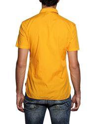 John Galliano | Orange Logo Print Coton Poplin Shirt for Men | Lyst