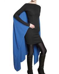 Gareth Pugh - Cape Dress in Black/blue - Lyst