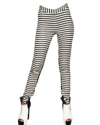 Gareth Pugh - Black Stripey Stretch Silk Jersey Leggings - Lyst