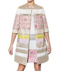 Giambattista Valli | Multicolor Lurex On Cotton Silk Jacquard Coat | Lyst