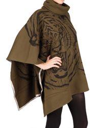 Horiyoshi III | Green Cotton Fleece Poncho Sweatshirt | Lyst