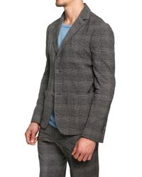 Iceberg | Gray Prince De Galle Print Cool Wool Jacket for Men | Lyst