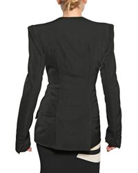 Jean-Pierre Braganza Black Viscose Crepe Jacket