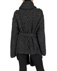 Jean-Pierre Braganza | Gray Merino Wool Heavy Knit Cardigan Coat | Lyst