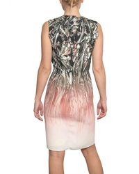 Jean-Pierre Braganza Multicolor Printed Silk Crepe De Chine Dress