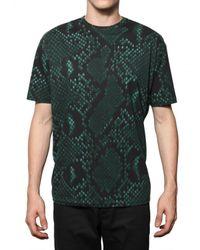 Jil Sander | Green Python Print T Shirt for Men | Lyst