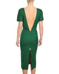 Jil Sander | Green Structured Viscose Canvas Dress | Lyst