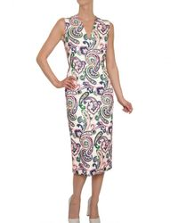 Jil Sander Multicolor Pasley Print Fil Coupe Dress