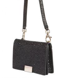 Jimmy Choo - Black Glitter Fabric I-phone Case Shoulder Bag - Lyst