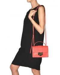 Jimmy Choo | Pink Rebel Grainy Leather Shoulder Bag | Lyst