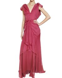 John Galliano | Pink Silk Chiffon Dress | Lyst