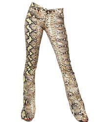 Just Cavalli | Natural Python Denim Stretch Boot Cut Jeans | Lyst