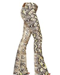 Just Cavalli   Natural Python Denim Stretch Boot Cut Jeans   Lyst