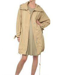 Kai-aakmann - Natural Flowy Techno Parka Coat - Lyst