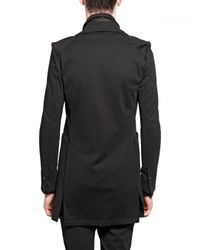 Kiryuyrik | Black Heavy Jersey Long Jacket for Men | Lyst