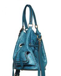 Lancel | Blue Premiere Flirt Leather Croco Print Shoul | Lyst