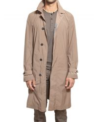 Lanvin | Natural Stretch Light Nylon Taffeta Trench Coat for Men | Lyst