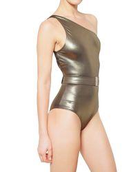 Lanvin | Metallic Lurex Lycra Bathing Suit | Lyst