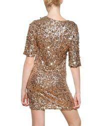Lanvin Metallic Sequined Viscose Jersey Dress