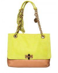Lanvin | Green Happy Medium Leather Shoulder Bag | Lyst
