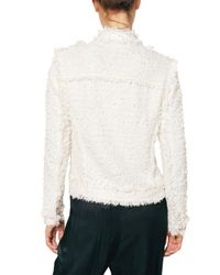 Lanvin White Cotton Tweed Jacket