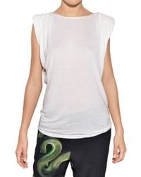 Lanvin | White Viscose Jersey Top | Lyst