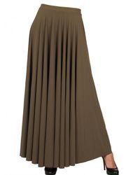 Lanvin Natural Pleated Lycra Skirt