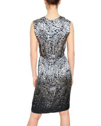 Lanvin | Gray Diamond Print Charmeuse Dress | Lyst