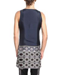 Lanvin - Blue Kaleidoscope Silk Top for Men - Lyst