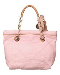 Lanvin - Pink Quilted Mini Amalia Tote - Lyst