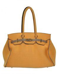 Leghilà - Yellow B-bag Large Neoprene Top Handle - Lyst