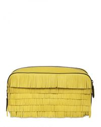 Marc Jacobs | Yellow Suzie Fringed Leather Clutch | Lyst