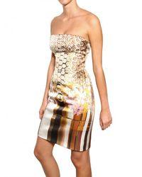 Mary Katrantzou Multicolor Printed Viscose Cotton Faille Dress