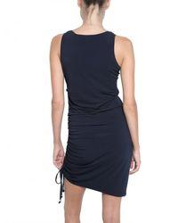 MICHAEL Michael Kors Blue Lace Up Jersey Dress