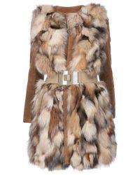 MSP Brown Fox Fur Coat