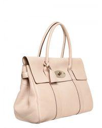 Mulberry | Natural Bayswater Glossy Leather Top Handle | Lyst