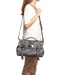Mulberry - Gray Oversize Alexa Soft Buffalo Leather Top - Lyst