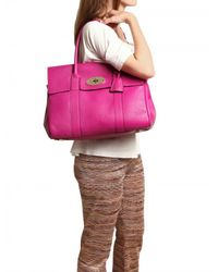 Mulberry | Pink Bayswater Spongy Pebbled Leather Top Han | Lyst