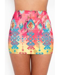 Nasty Gal | Pink Tribal Bandage Skirt | Lyst