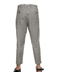 Neil Barrett - Black Prince Of Wales Stretch Wool Trousers for Men - Lyst